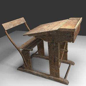 old school desk model