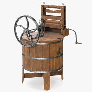 antique washing machine 3D
