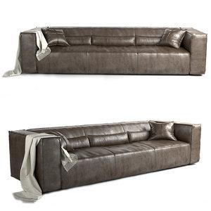 3D sofa pillow furniture model