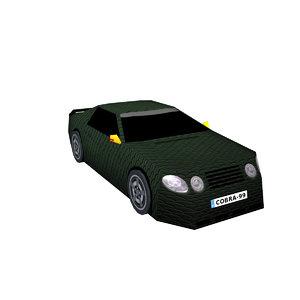 3D sports car cobra model