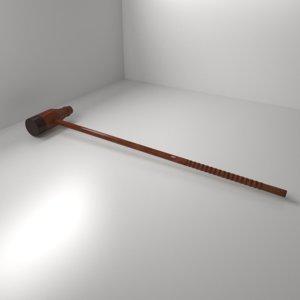 3D woodball mallet