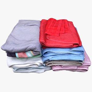 3D pile towels