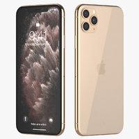 3D iphone 11 pro gold model