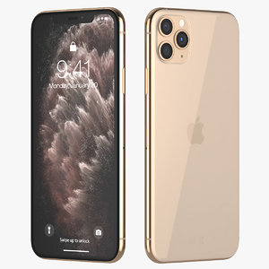 3D iphone 11 pro gold model