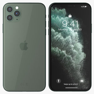 iphone 11 pro midnight 3D model