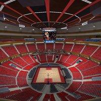3D arena basket ball model