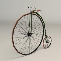 3D model antique bike bi