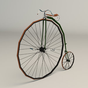 3D model antique bike bi