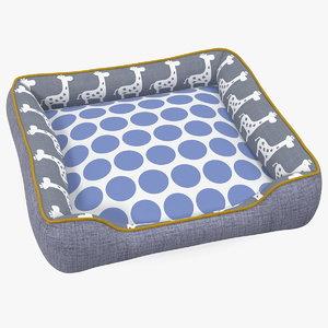 pet bed generic 3D