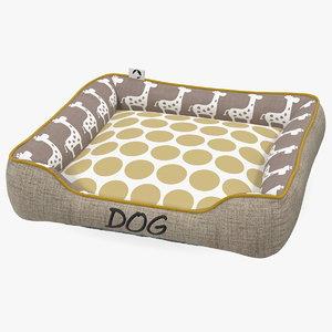 pet bed dog 3D model
