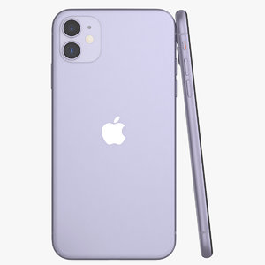 3D model iphone 11 purple phones