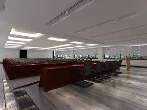 3D interior auditorium room 21000x15000 model