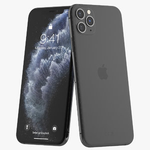 iphone 11 pro space 3D model