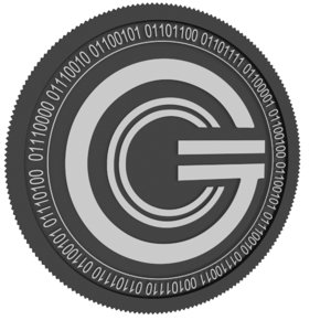 cryptocurrency black coin 3D model