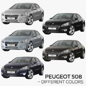 peugeot 508 - different 3D model