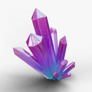 3D colorful crystal magical model