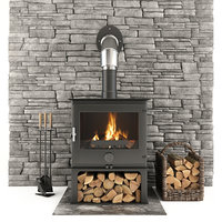 Fireplace and Accessories Stone wall