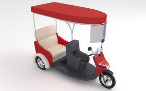 3D taxi mototaxi mo