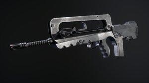3D assault rifle famas f1