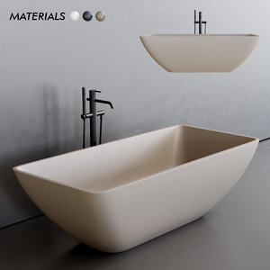 3D model quadra bathtub