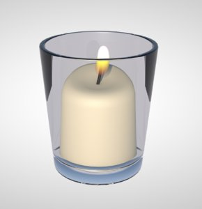 realistic candle 3D model