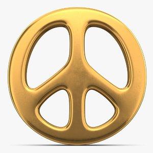 peace sign symbol 3D