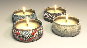 3D candle decor model