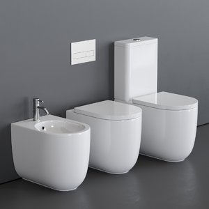 toilet milady bidet 3D model