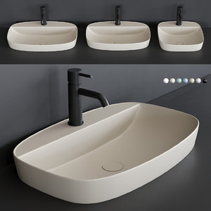 colori washbasin semi-inset 3D