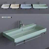 3D new zero wall-mounted washbasin model