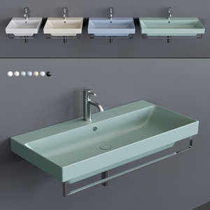 3D new zero wall-mounted washbasin model