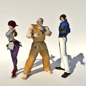 3D king fighter art fighting model