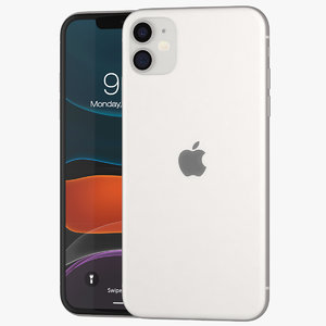 3D iphone 11 white mobile phones