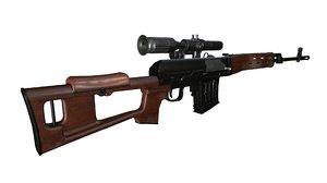 3D svd rifle model