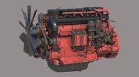 DC13 Diesel Engine VRay PBR