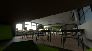 3D animes rooms model