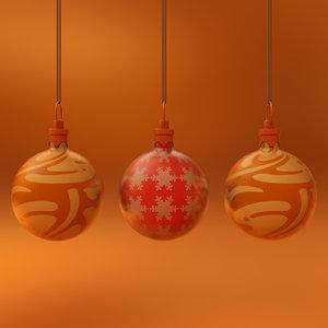 3D model christmas ornament ball