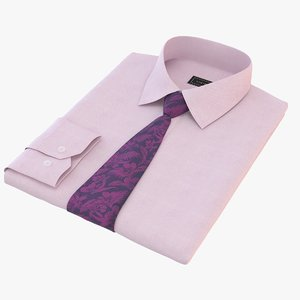3D folded shirt tie