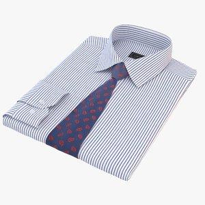 3D folded shirt tie model