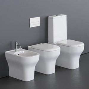 3D model toilet synthesis bidet