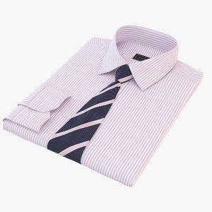 3D model folded shirt tie