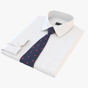 folded shirt tie model