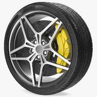 sports car wheel tire model