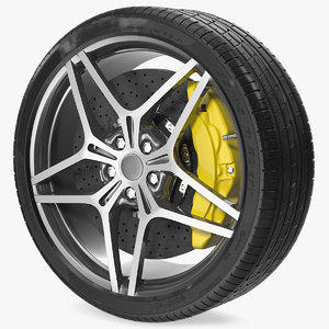 sports car wheel tire model