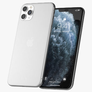 iphone 11 pro silver 3D model