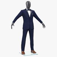 blue tuxedo suit 3D