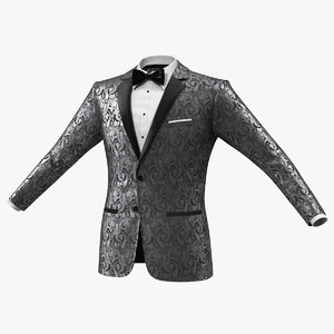 patterned tuxedo jacket 3D model