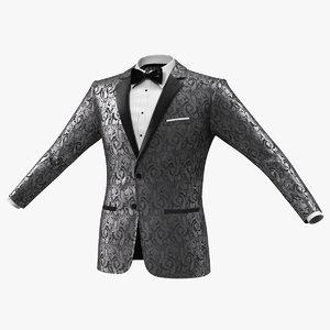 patterned tuxedo jacket 3D model