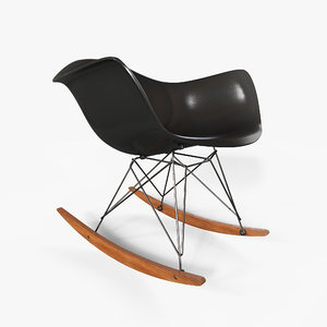 eames rocking chair 3D