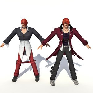 3D king fighter character iori
